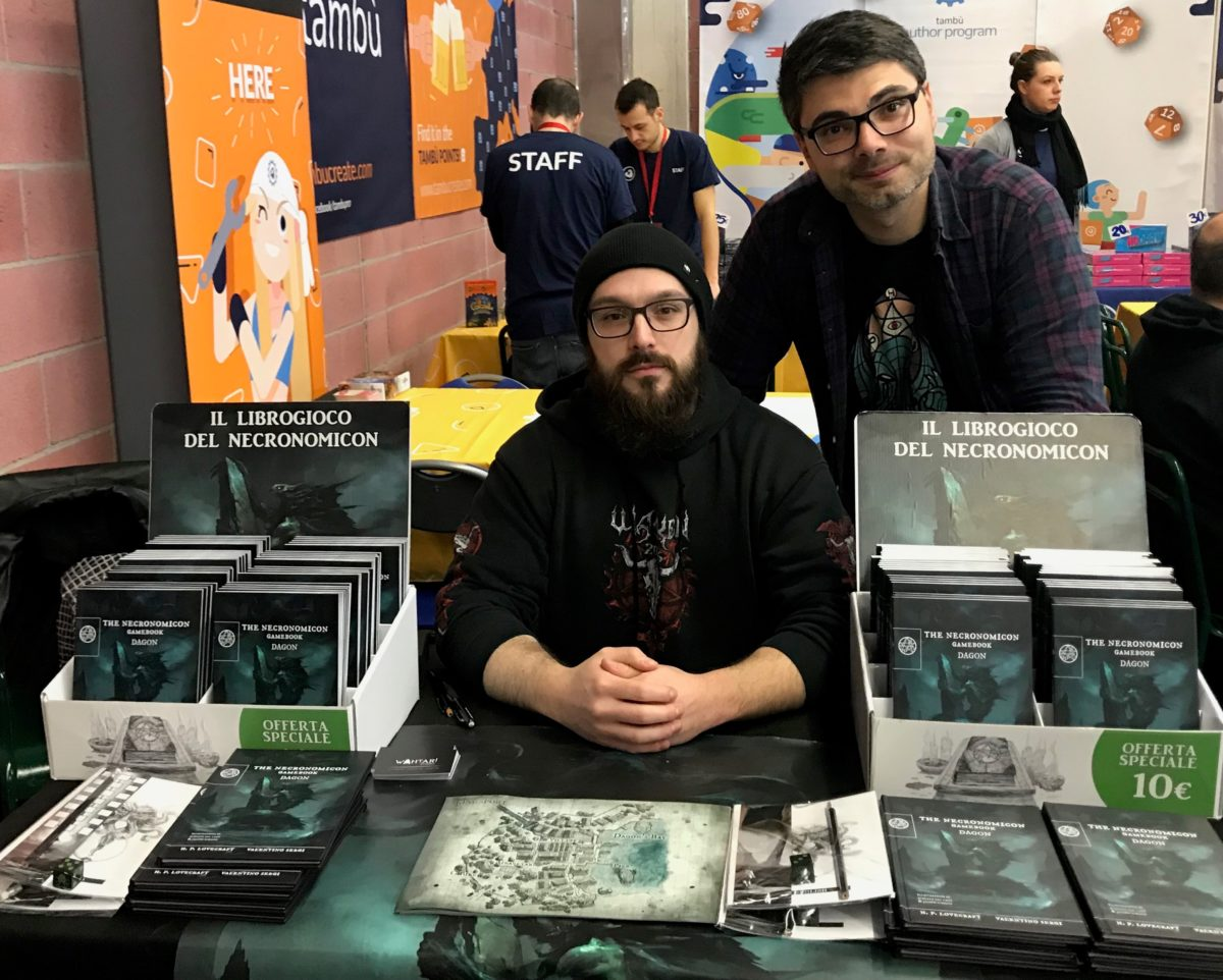Jacopo Schiavo con The Necronomicon Gamebook